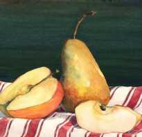 Как рисовать аппетитные фрукты и овощи. Рисуем фрукты акварелью