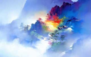Китайские пейзажи. Художник Hong Leung — завораживающие пейзажи Китая