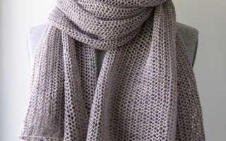 Воздушный шарф спицами. Неповторимое очарование – ажурный шарф спицами