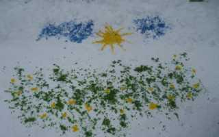 Как красить снег. Рисование на снегу и объемные снежные раскраски