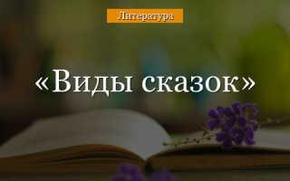 Сказки какие бывают по жанру. Классификация сказок и характерные черты каждого вида