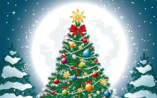 Как нарисовать новогоднюю елку поэтапно красками. Рисуем ёлку для детей