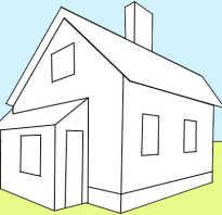 Дом на дереве рисунок карандашом. Дом в двухточечной перспективе