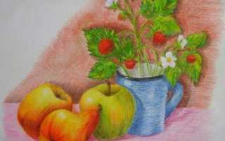 Натюрморт фрукты в вазе поэтапно. Как нарисовать натюрморт карандашом поэтапно
