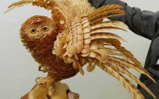 Скульптуры из древесной стружки. Сергей бобков, скульптура из стружки