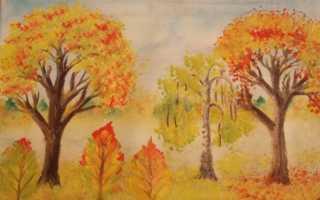 Деревня осенью рисунок. Урок рисования осенних пейзажей поэтапно