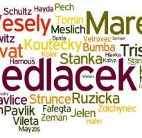 Происхождение чешских фамилий. Самые распространенные чешские фамилии