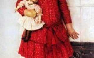 Картина сурикова дочь художника описание. Портрет дочери художника, в детстве