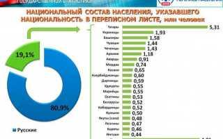 Количество населения по национальности. Национальный состав населения России