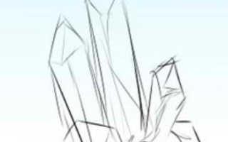 Как нарисовать кристаллы карандашом поэтапно. Рисуем кристаллы различных форм