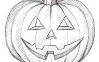 Страшные рисунки на хэллоуин. Картинки нарисованных тыкв на хэллоуин