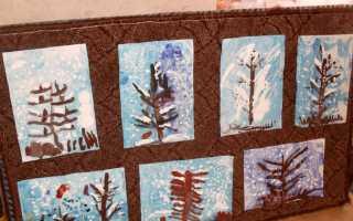 «Зимний пейзаж». Пейзажная монотипия в младшей группе (кружковая работа)