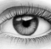 Как нарисовать правый глаз. Как нарисовать реалистичный глаз карандашом