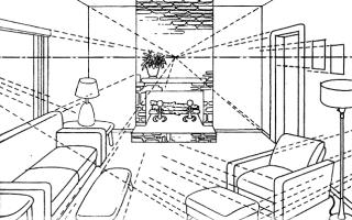 Как нарисовать интерьер комнаты (17 фото). Как рисовать модные эскизы