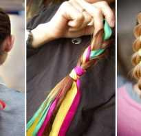 Плетение кос на длинные с лентой. Косичка с ленточкой — витая коса.