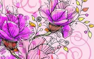 Весенние цветы в вазе легкий рисунок. Поможем младшим домочадцам