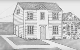 Как нарисовать деревенский дом карандашом. Рисуем дом карандашом поэтапно