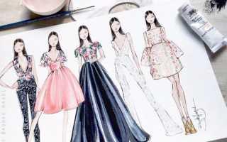 Как рисовать эскиз одежды карандашом. Как нарисовать платье поэтапно для детей