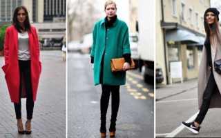 Темно синее пальто оверсайз с чем носить. С какой обувью носить пальто оверсайз