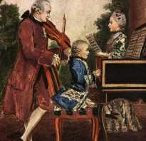 Биография моцарта последние годы жизни. Моцарт краткая биография