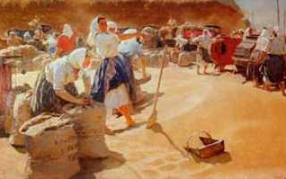 Яблонская хлеб описание картины. Сочинение по картине Яблонской «Хлеб