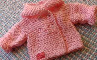 Вязание жакетов для малышей спицами. Кофточки для новорожденных