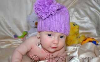 Связать шапочку гномик для малышки. Вяжем шапку гномик спицами для малыша
